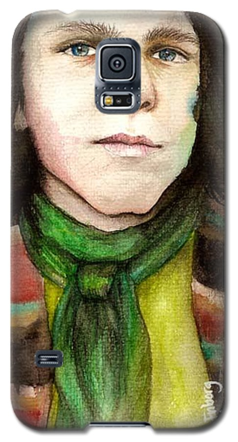 Boy Galaxy S5 Case featuring the drawing Emil by Freja Friborg