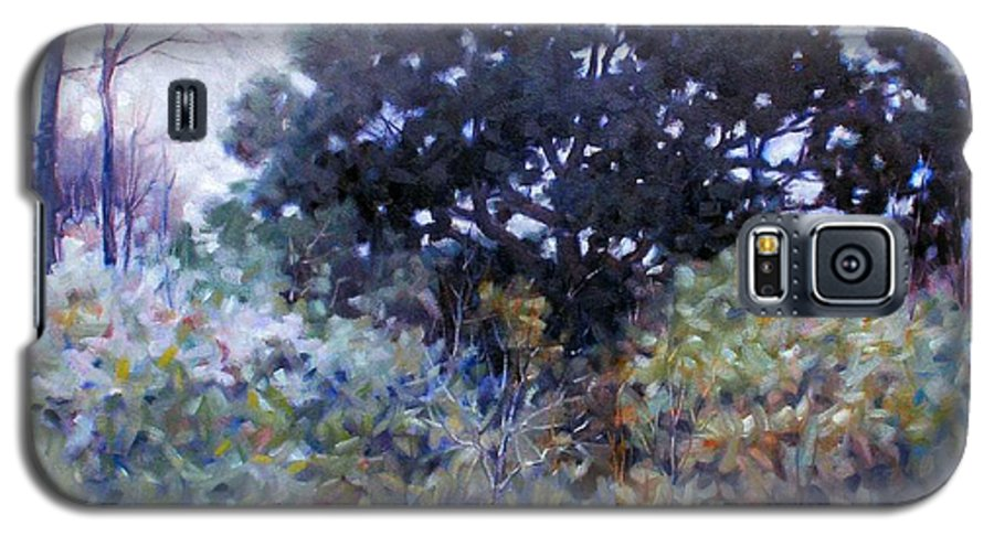 Landscape Galaxy S5 Case featuring the painting Empty Lot by Kevin Lawrence Leveque