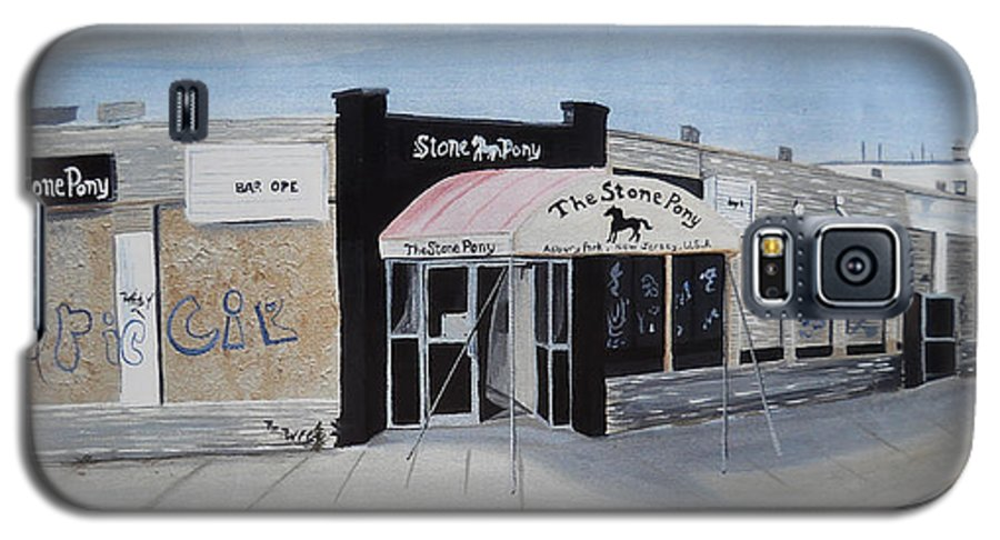 Acrylic Painting Of The Stone Pony Galaxy S5 Case featuring the painting End Of An Era by Patricia Arroyo