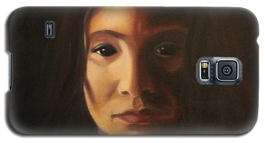Woman In The Dark Galaxy S5 Case featuring the painting Endure by Toni Berry