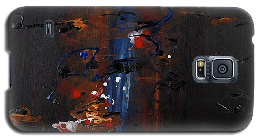 Black Galaxy S5 Case featuring the painting Energy by Nadine Rippelmeyer