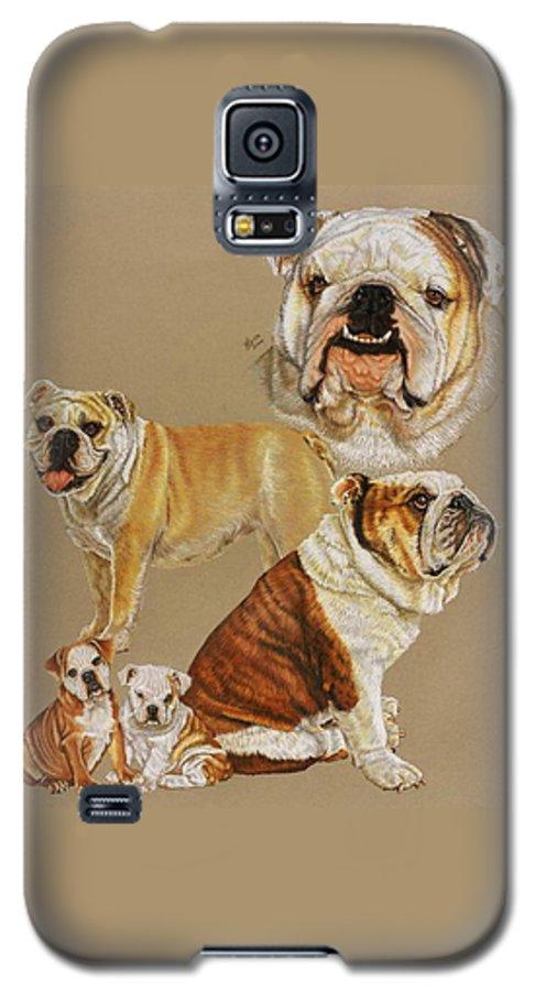 Dog Galaxy S5 Case featuring the drawing English Bulldog by Barbara Keith