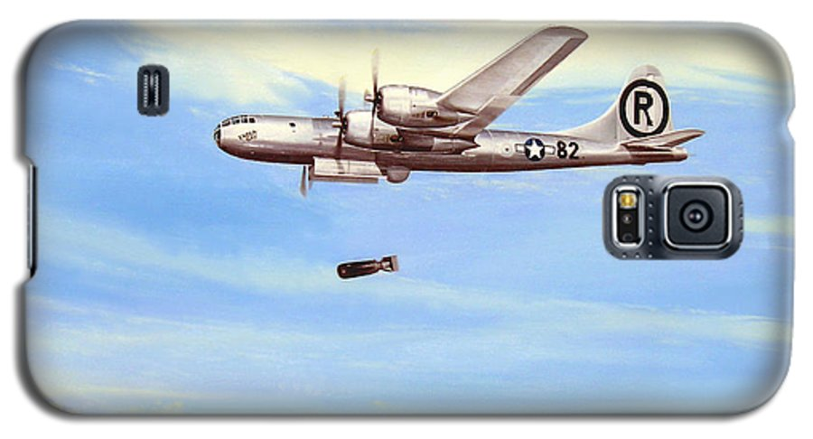Military Galaxy S5 Case featuring the painting Enola Gay by Marc Stewart