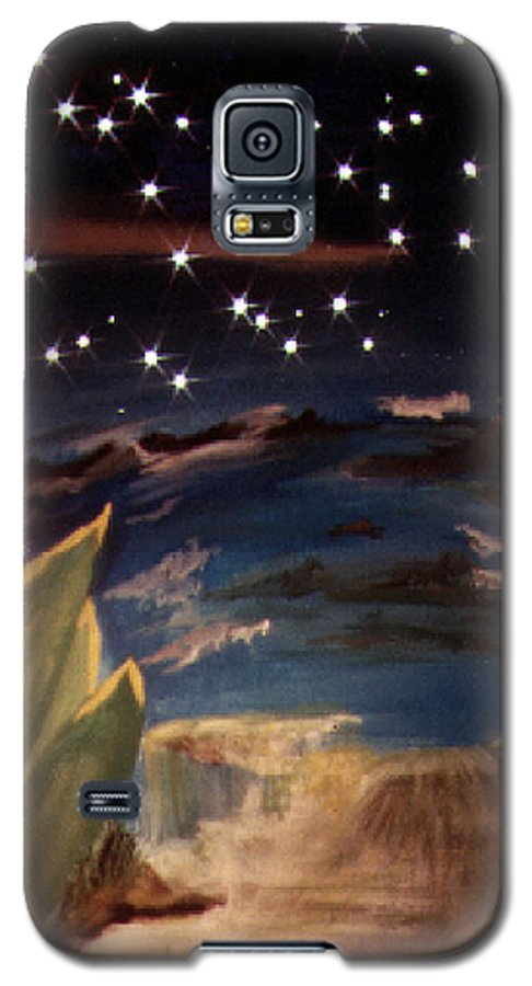 Surreal Galaxy S5 Case featuring the painting Enter My Dream by Steve Karol
