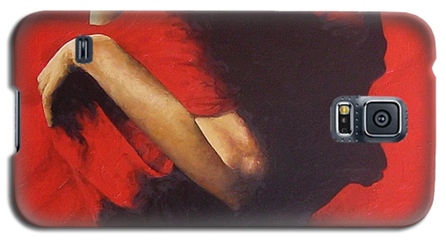 Oil Painting Original Canvas Linen Nude Figurative Traditional Realistic Galaxy S5 Case featuring the painting Entrapped by Trisha Lambi