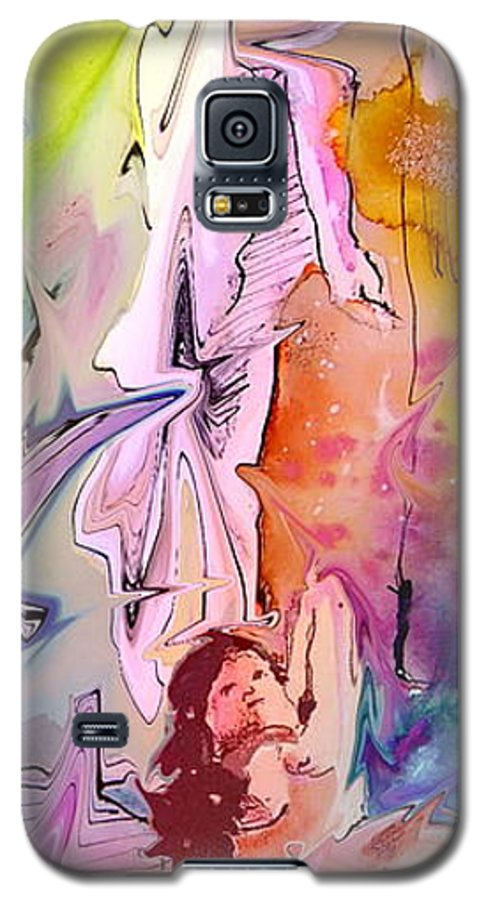 Miki Galaxy S5 Case featuring the painting Eroscape 09 1 by Miki De Goodaboom
