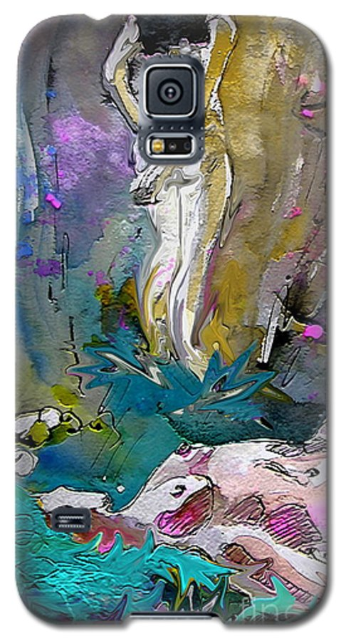 Miki Galaxy S5 Case featuring the painting Eroscape 1104 by Miki De Goodaboom