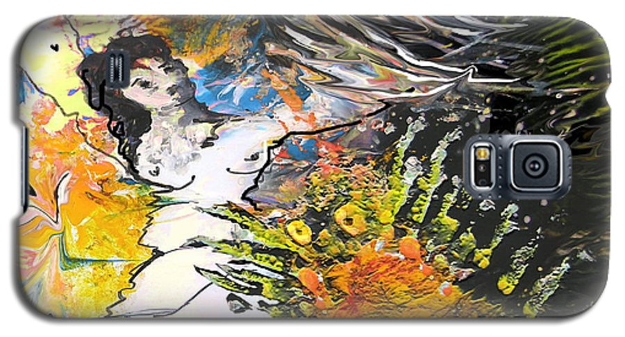 Miki Galaxy S5 Case featuring the painting Erotype 07 2 by Miki De Goodaboom