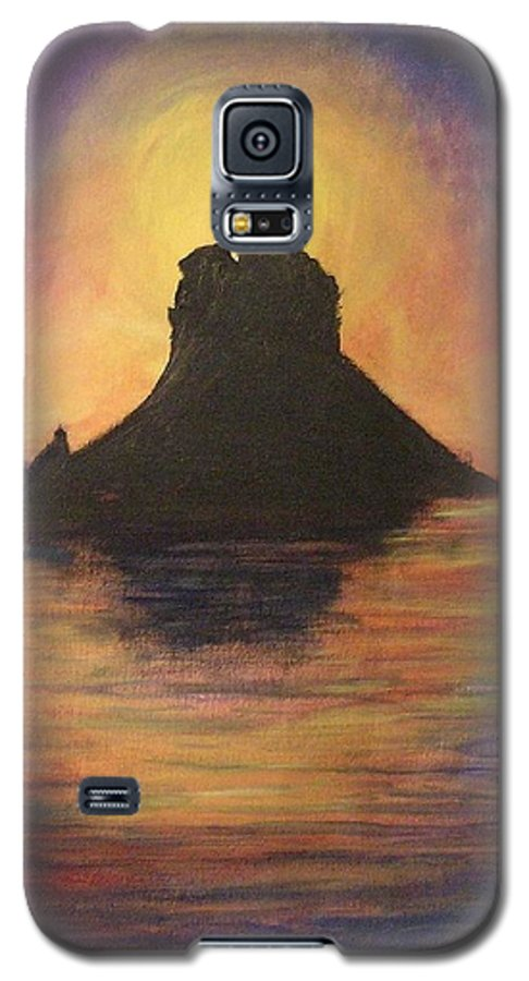 Sunset Galaxy S5 Case featuring the painting Es Vedra Sunset I by Lizzy Forrester