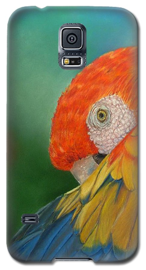 Bird Galaxy S5 Case featuring the painting Escondida by Ceci Watson