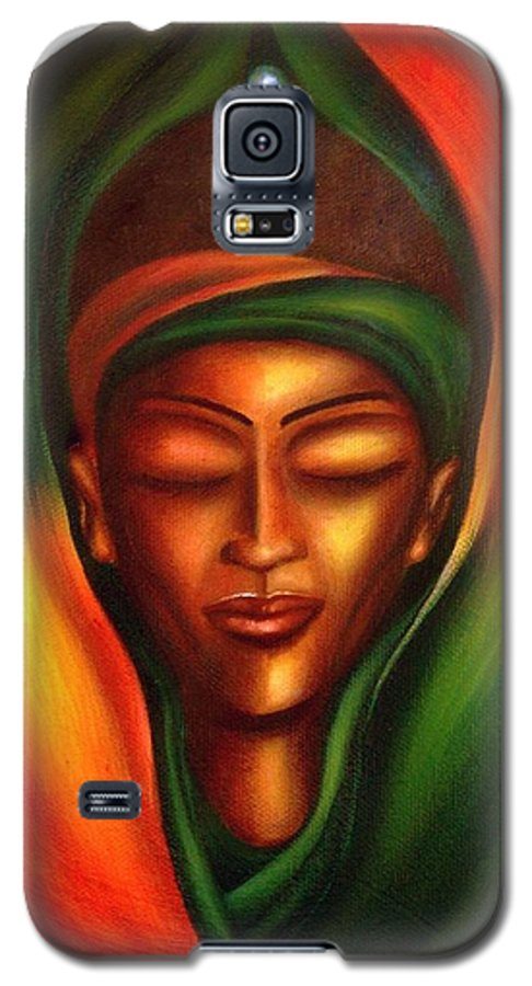 Beauty Galaxy S5 Case featuring the painting Essence by Lee Grissett