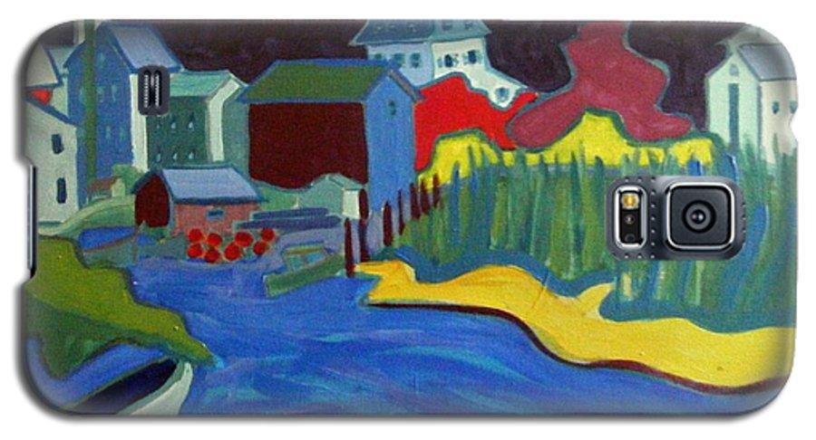 Essex River Galaxy S5 Case featuring the painting Essex River by Debra Bretton Robinson