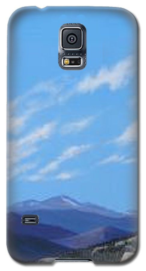 Estes Park Galaxy S5 Case featuring the painting Estes Overlook by Hunter Jay