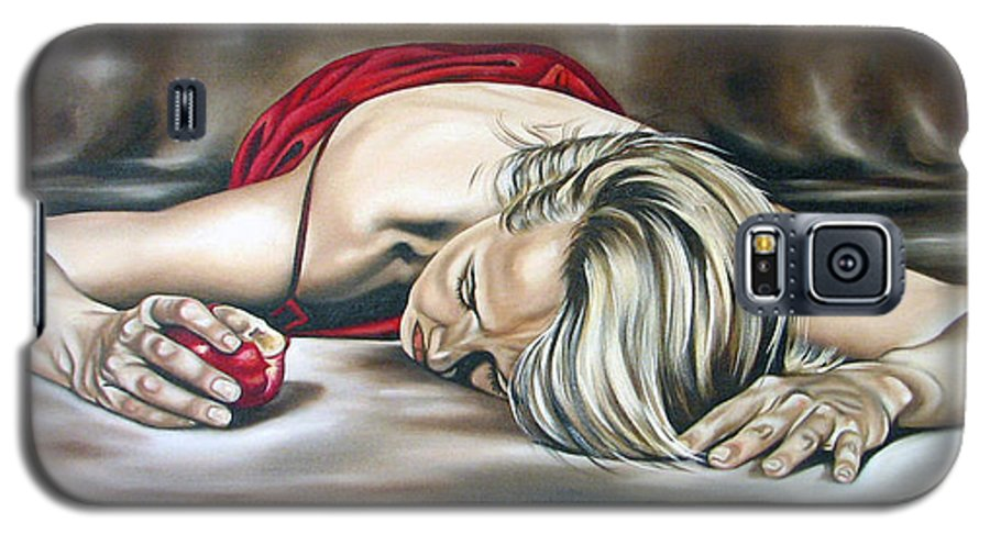 Figure Galaxy S5 Case featuring the painting Eve by Ilse Kleyn