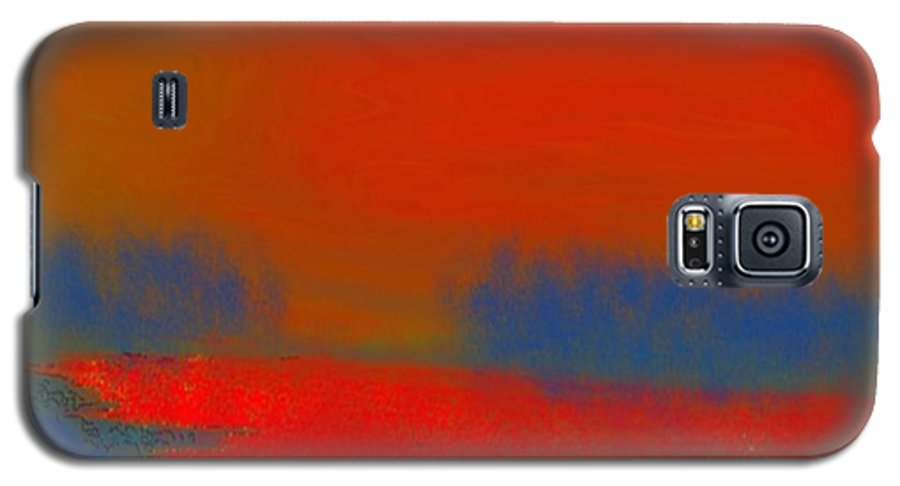 Sunset Galaxy S5 Case featuring the digital art Evening Way To Dead Sea.fire Sunset by Dr Loifer Vladimir