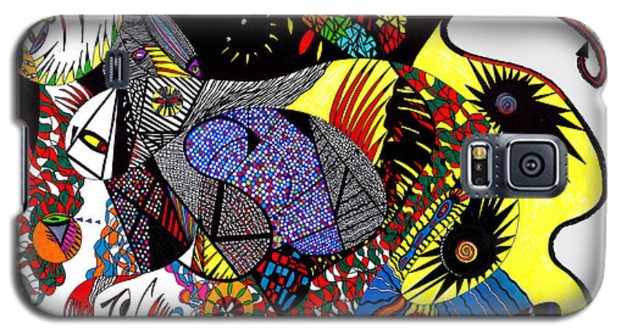 Psychedelic Galaxy S5 Case featuring the painting Evil Born by Safak Tulga