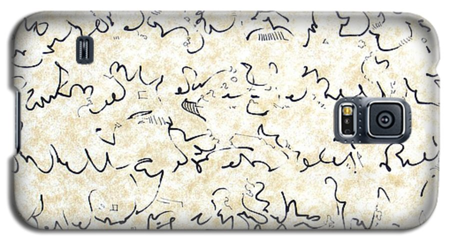 Calligraphy Galaxy S5 Case featuring the drawing Executive Summary With Notes by Dave Martsolf