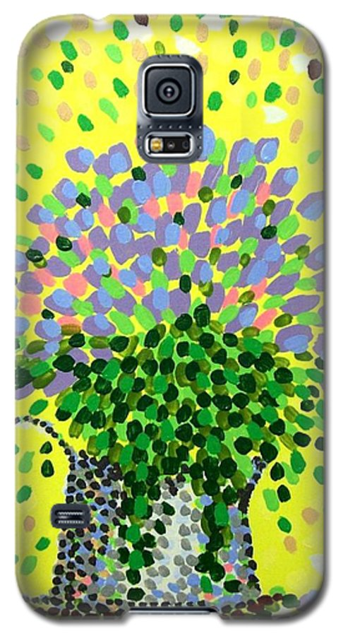 Flowers Galaxy S5 Case featuring the painting Explosive Flowers by Alan Hogan