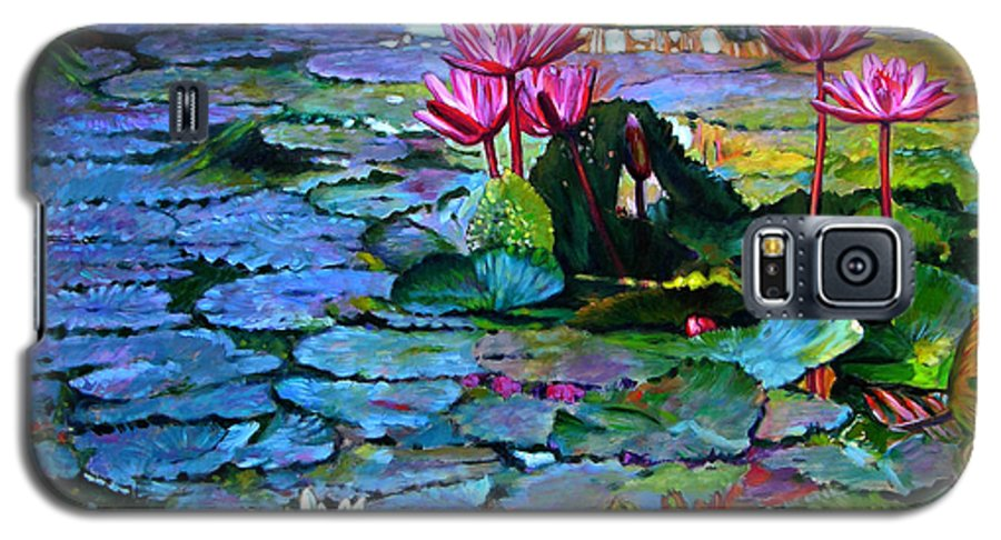 Landscape Galaxy S5 Case featuring the painting Expressions From The Garden by John Lautermilch