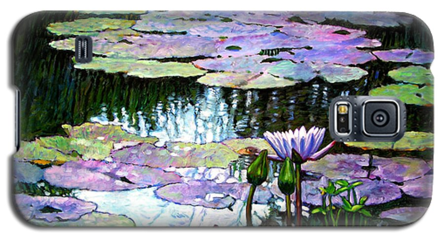 Landscape Galaxy S5 Case featuring the painting Expressions Of Love And Peace by John Lautermilch