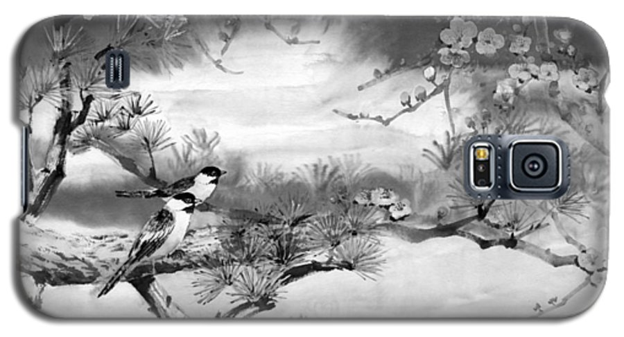 Chinese Painting Galaxy S5 Case featuring the painting Expressions Of Spring by Eileen Fong