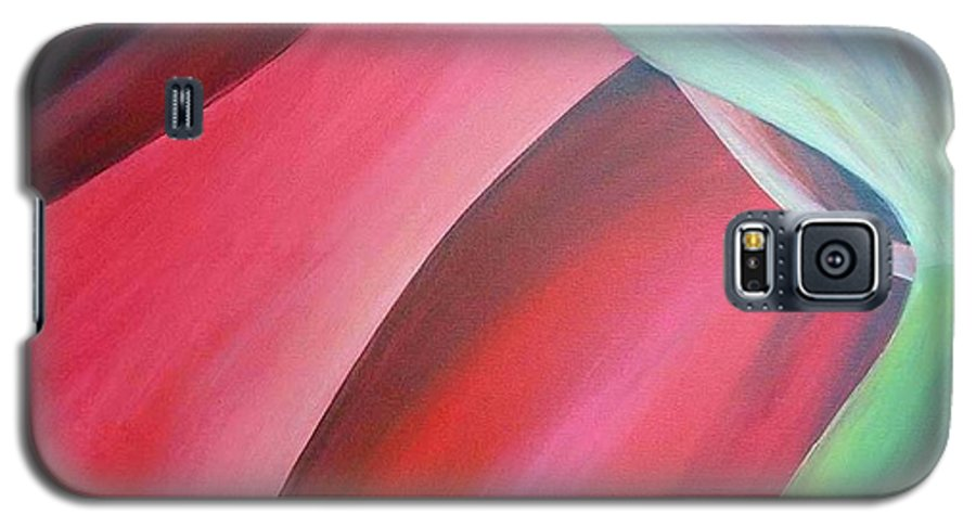 Flower Galaxy S5 Case featuring the painting Extrait by Muriel Dolemieux