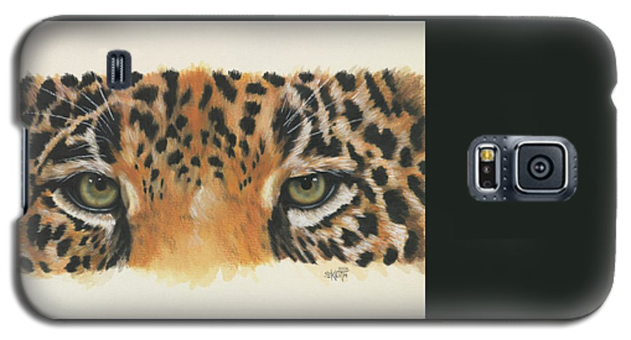 Jaguar Galaxy S5 Case featuring the painting Eye-catching Jaguar by Barbara Keith
