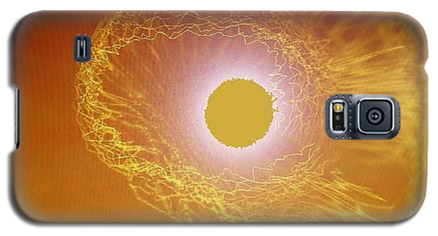 The Powerful Gaze Of The Almighty. Destroying Evil With His Almighty Sight. Galaxy S5 Case featuring the digital art Eye Of God by Seth Weaver