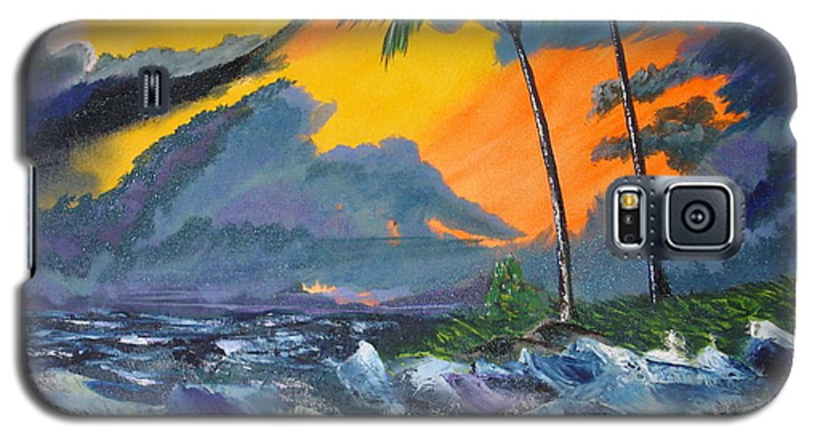 Knifework Galaxy S5 Case featuring the painting Eye Of The Storm by Susan Kubes