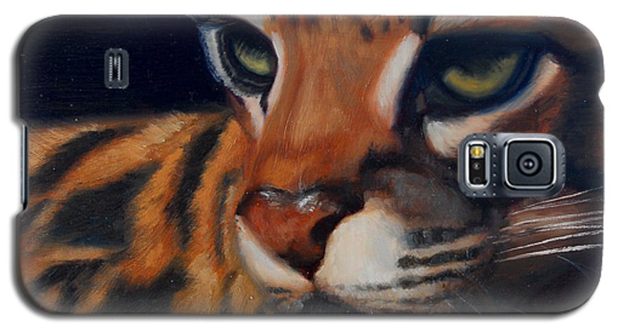 Painting Galaxy S5 Case featuring the painting Eyes Wide Open by Greg Neal