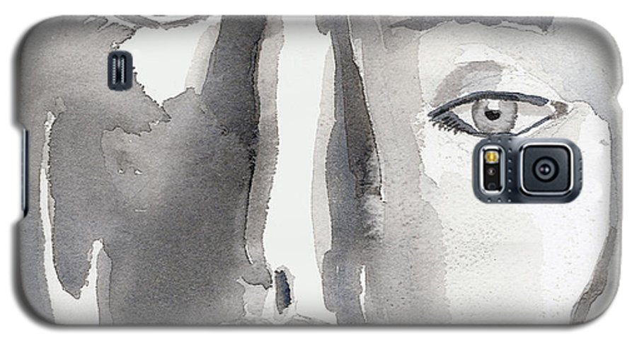 Faces Galaxy S5 Case featuring the painting Faces by Arline Wagner
