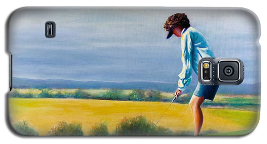 Golfer Galaxy S5 Case featuring the painting Fairy Golf Mother by Shannon Grissom