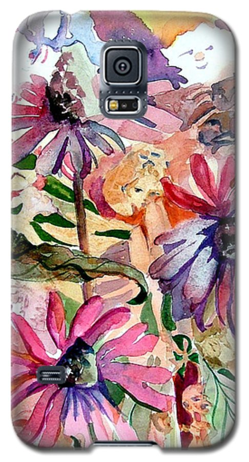 Daisy Galaxy S5 Case featuring the painting Fairy Land by Mindy Newman