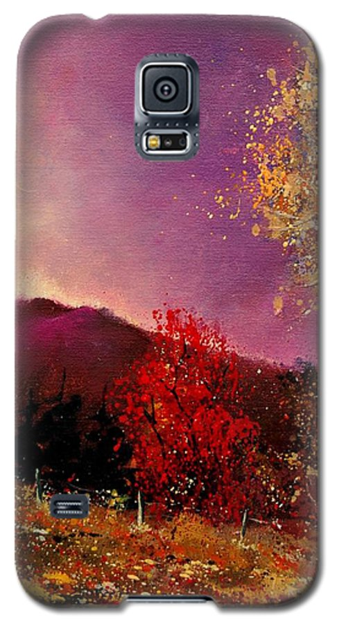 River Galaxy S5 Case featuring the painting Fall Colors by Pol Ledent