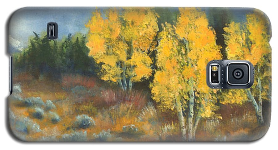 Landscape Galaxy S5 Case featuring the painting Fall Delight by Jerry McElroy