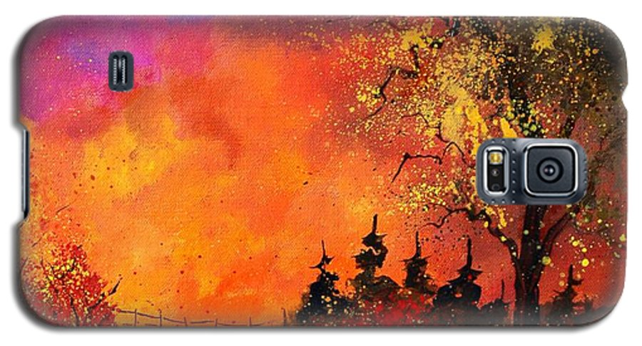 River Galaxy S5 Case featuring the painting Fall by Pol Ledent