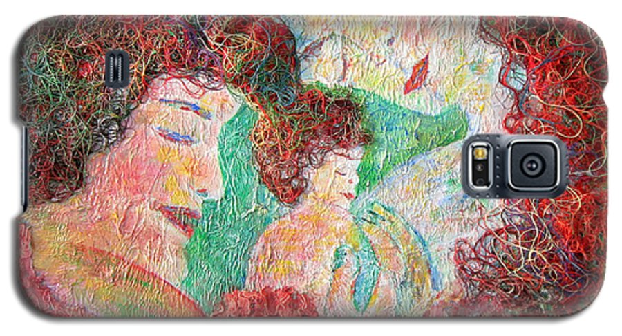 Mother Galaxy S5 Case featuring the painting Family Safety by Naomi Gerrard