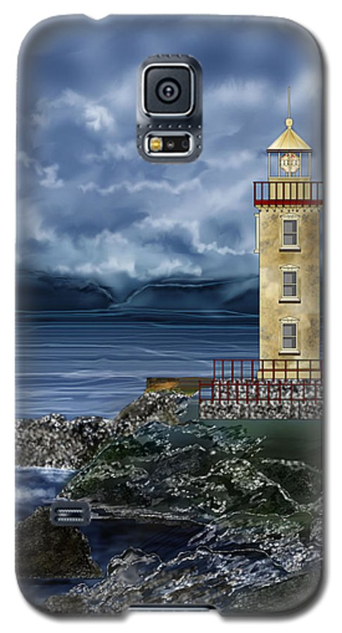 Lighthouse Galaxy S5 Case featuring the painting Fanad Head Lighthouse Ireland by Anne Norskog