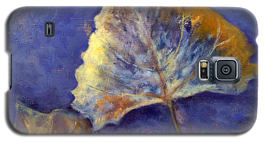Leaves Galaxy S5 Case featuring the painting Fanciful Leaves by Chris Neil Smith