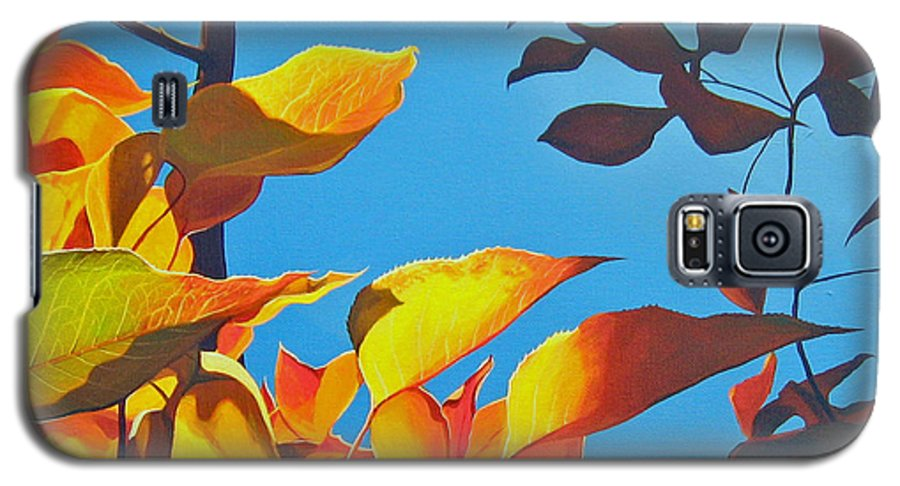 Fall Galaxy S5 Case featuring the painting Farewell To Summer by Hunter Jay