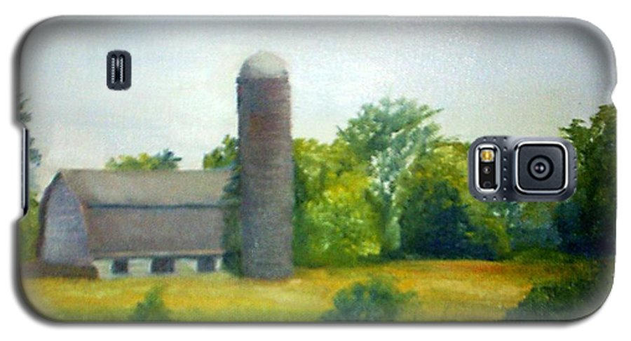 Farm Galaxy S5 Case featuring the painting Farm In The Pine Barrens by Sheila Mashaw