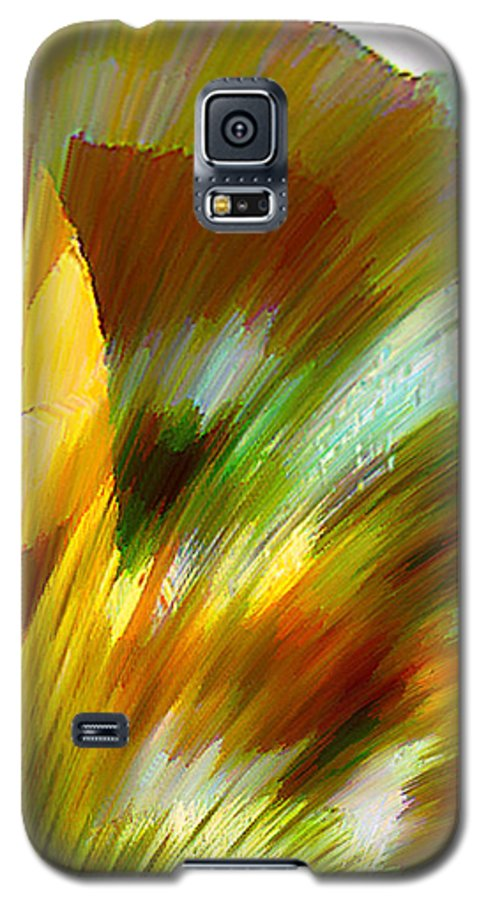 Landscape Digital Art Watercolor Water Color Mixed Media Galaxy S5 Case featuring the digital art Feather by Anil Nene