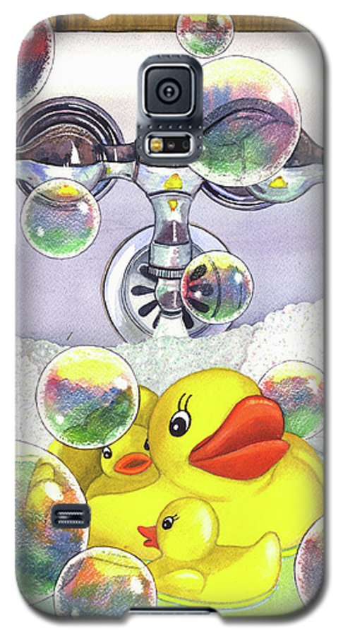 Bubbles Galaxy S5 Case featuring the painting Feelin Ducky by Catherine G McElroy