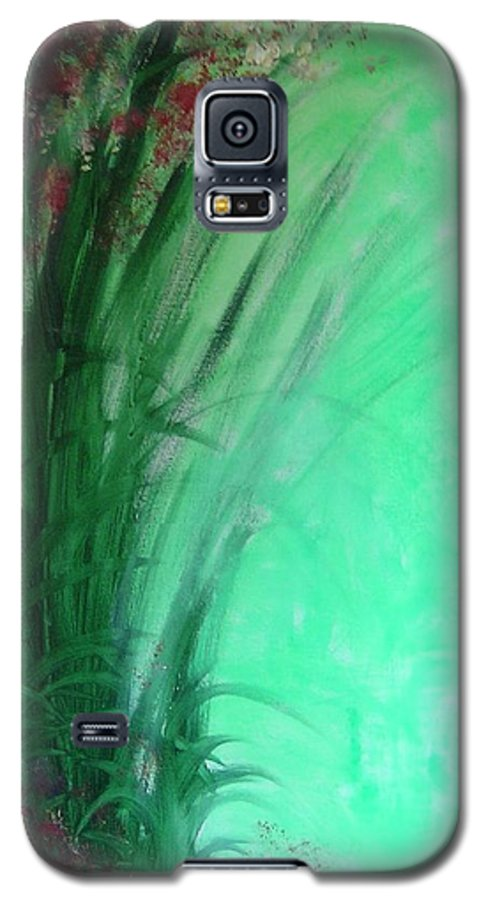 Green Ferns Galaxy S5 Case featuring the painting Ferns by Lizzy Forrester