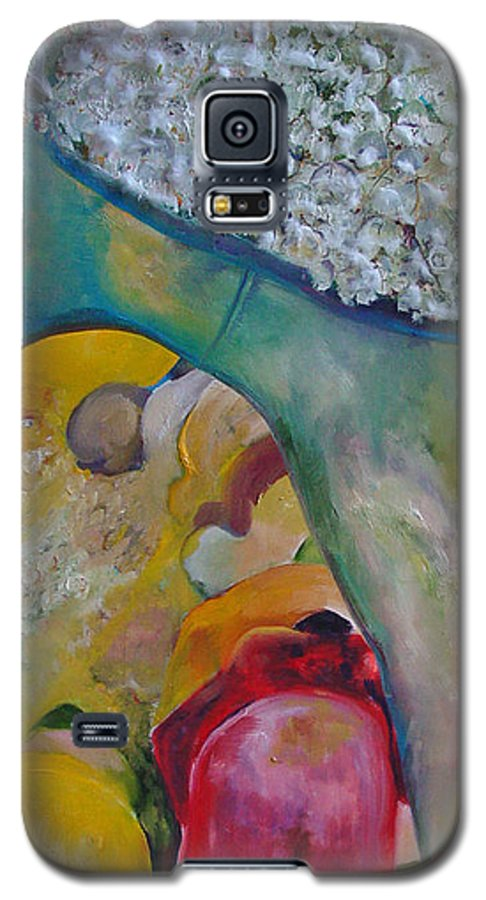Cotton Galaxy S5 Case featuring the painting Fields Of Cotton by Peggy Blood