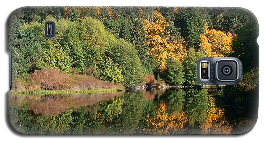 Fall Galaxy S5 Case featuring the photograph Final Reflection by Larry Keahey