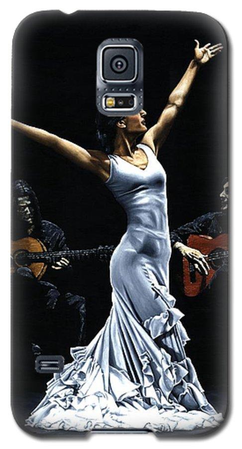 Flamenco Galaxy S5 Case featuring the painting Finale Del Funcionamiento Del Flamenco by Richard Young