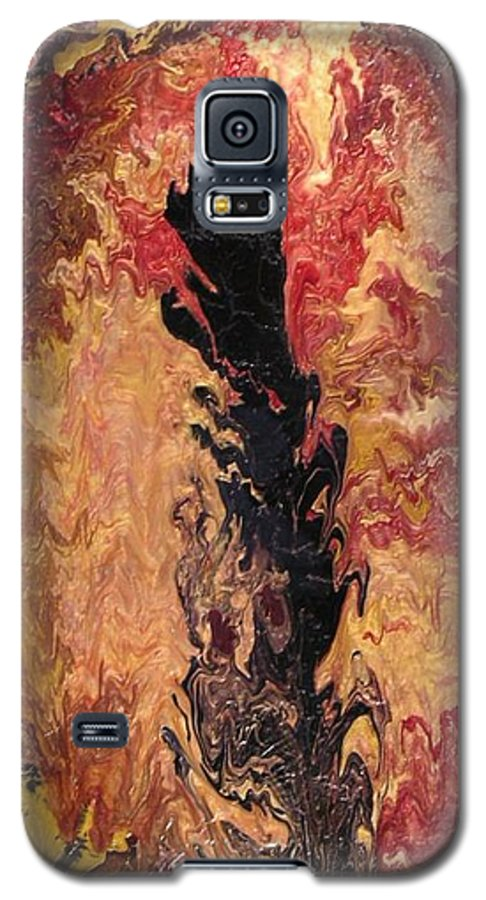 Abstract Galaxy S5 Case featuring the painting Fire - Elemental Spirit by Patrick Mock