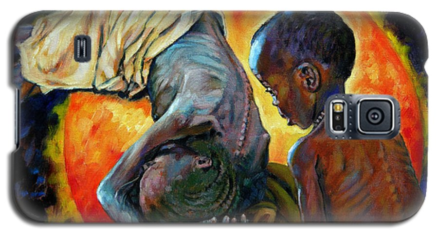 Starvation Galaxy S5 Case featuring the painting First Corinthians 1-25 by John Lautermilch