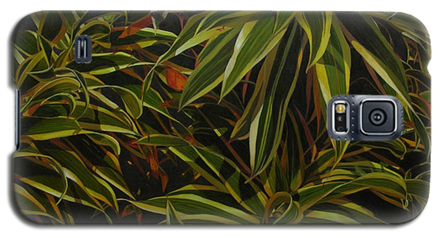 Leaves Galaxy S5 Case featuring the painting First In Cabot by Thu Nguyen
